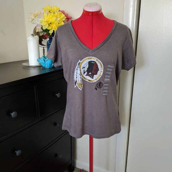 NFL Redskins women s metallic tee XL a81ec3b01